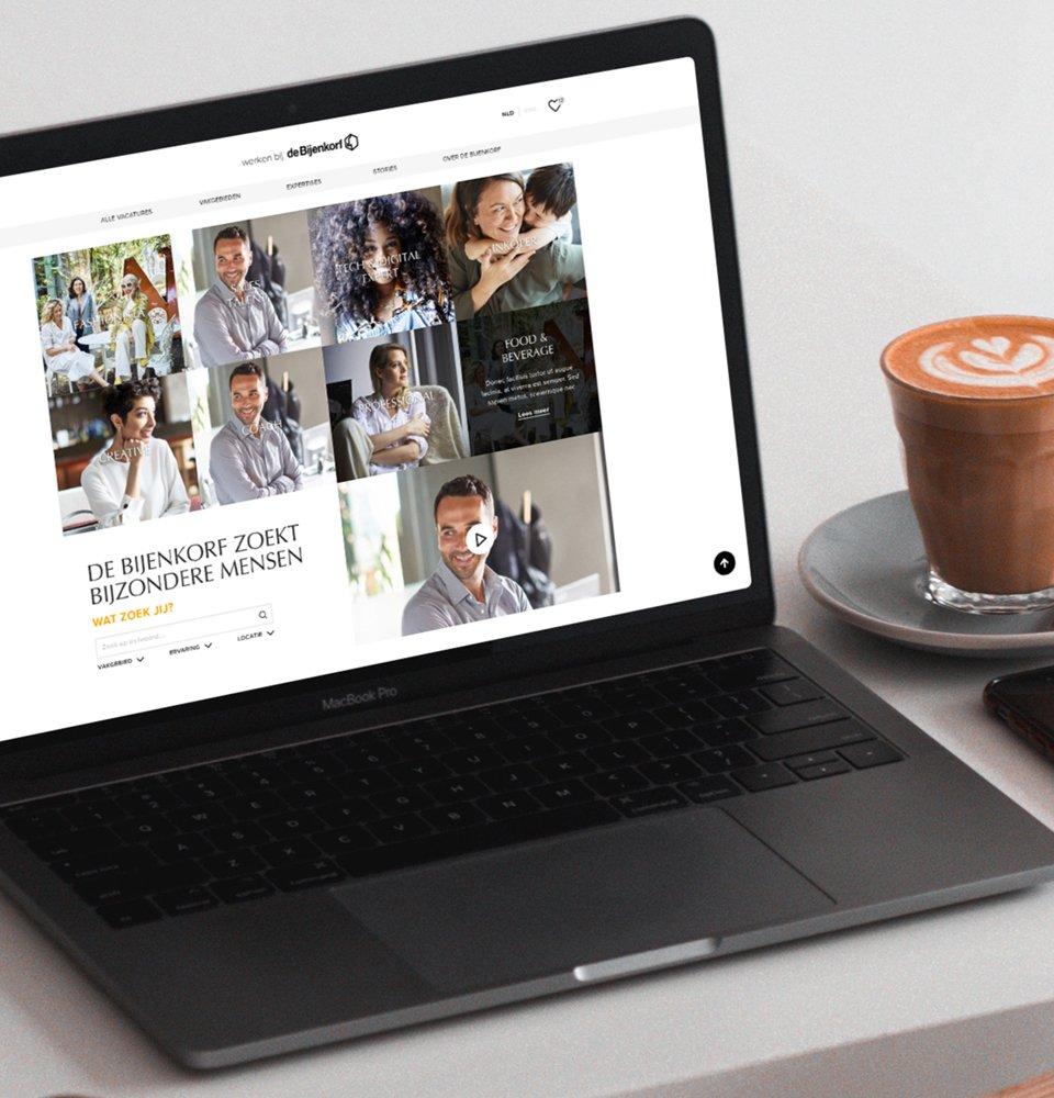 Recruitmentwebsite de Bijenkorf