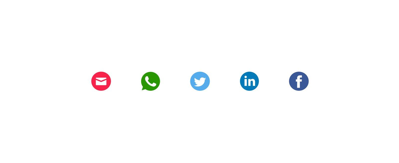 Content component - Delen via Social Media