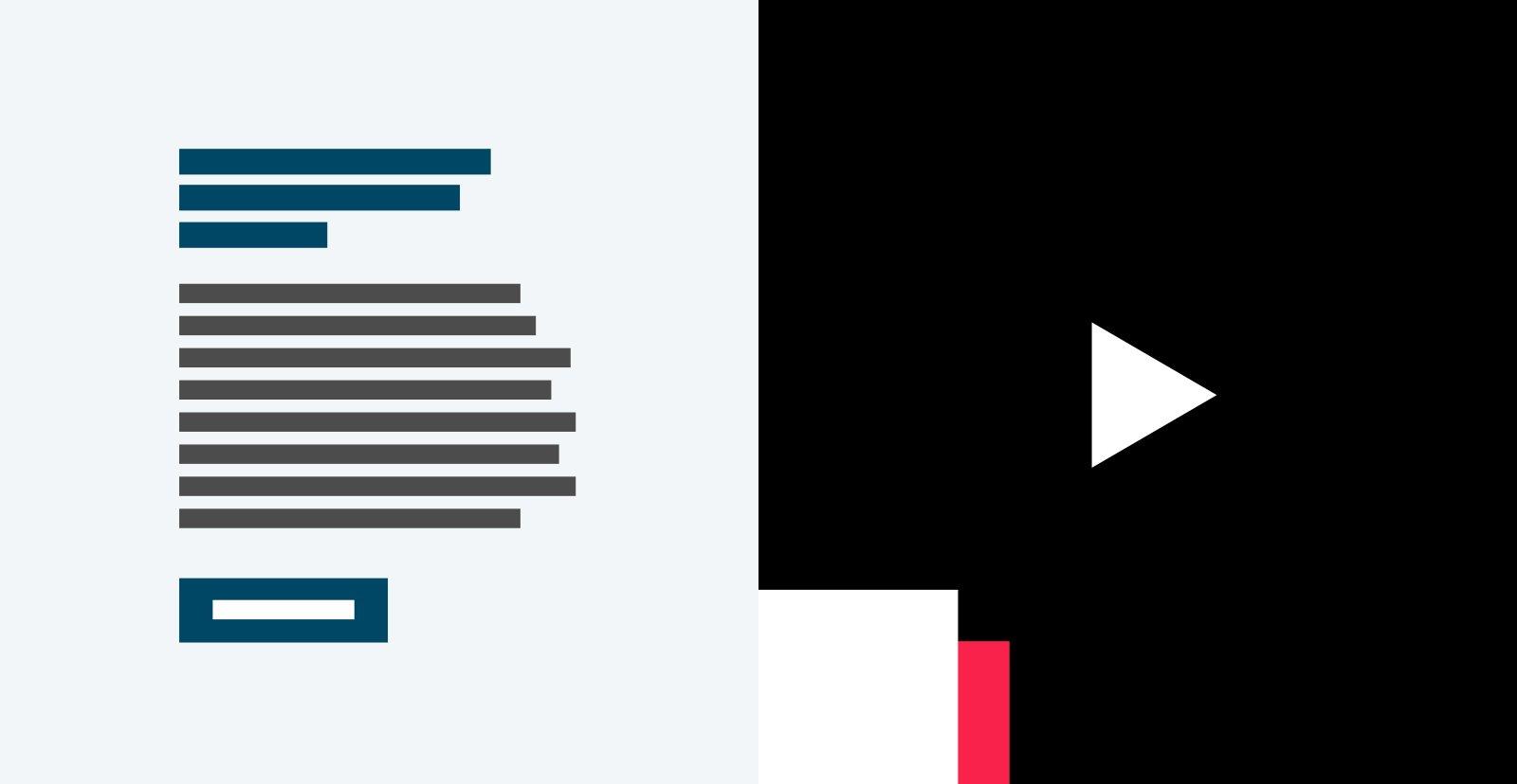 Content component - Tekst & media